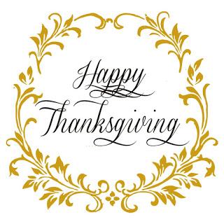 Happy Thanksgiving wreath logo